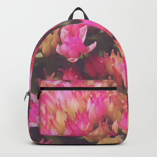 small pink flowers Backpack