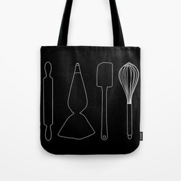 Baker Baking Tools -  Black Tote Bag