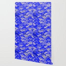Japanese Mountains Print Wallpaper