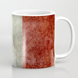 Flag of Italy, worn grungy style Coffee Mug