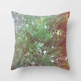 FLOWERS IN THE BRUSH Throw Pillow