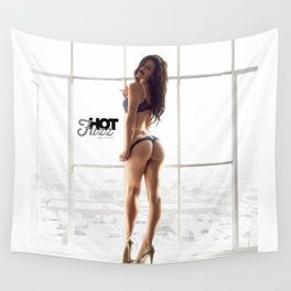 MOVEMBER Mustache BABE from Hot Fuzz Babes in Mustache Wall Tapestry