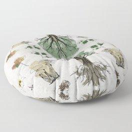 Tree Circle of Life Botanical Watercolor Floor Pillow