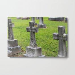 Crosses Metal Print