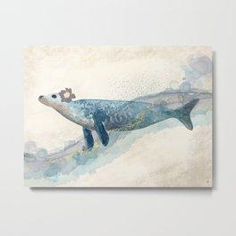 Pretty Seal Surreal - Seacoast Fantasy Metal Print