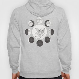Raven Skull with Moon Cycle Hoody