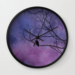 Sunday Crow Wall Clock