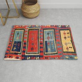 Sivas  Antique Cappadocian Turkish Kilim Print Rug