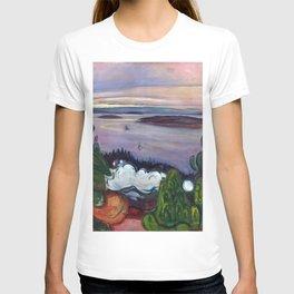 Train Smoke by Edvard Munch T-shirt