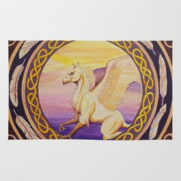 The Guardian - Celtic Griffin mandala Rug