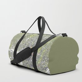 Munich city map engraving Duffle Bag