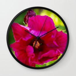 Jazzberry Jam Hibiscus Wall Clock