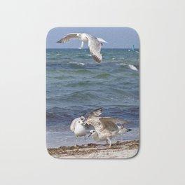 SEAGULLS on the BALTIC SEA Bath Mat