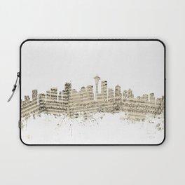 Seattle Washington Skyline Sheet Music Cityscape Laptop Sleeve