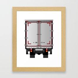 Lorry Rear Doors Framed Art Print