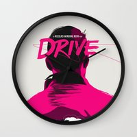 drive Wall Clocks featuring DRIVE by justjeff