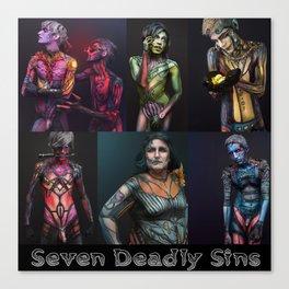 Seven Deadly Sins Canvas Print