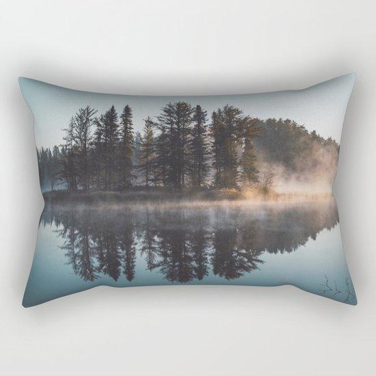 Foggy lake  #society6 Rectangular Pillow