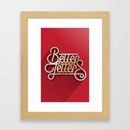 Better Letters Framed Art Print
