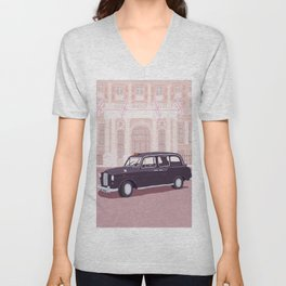 London Taxi Cab Unisex V-Neck