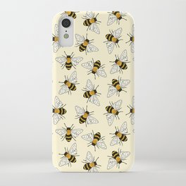 Busy Bees Pattern iPhone Case