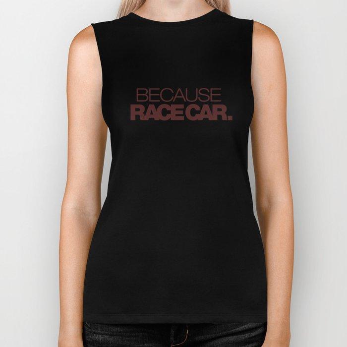 BECAUSE RACE CAR v7 HQvector Biker Tank