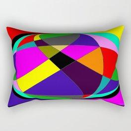 Crossing Cirlcles Rectangular Pillow