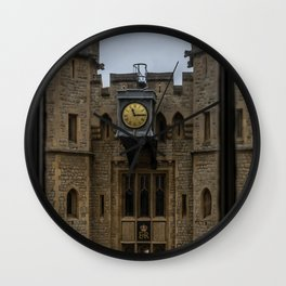 Clock on the Waterloo Block at Tower of London Home of the Crown Jewels Wall Clock