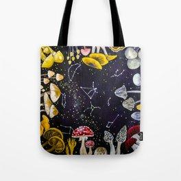 Mushrooms and Stars Tote Bag