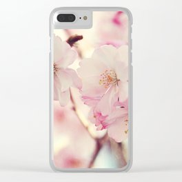 cotton candy flowers Clear iPhone Case