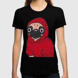 Red Hoodie Pug T-shirt