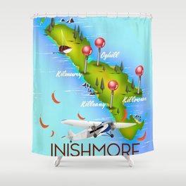 Inishmore Aran Islands Galway Bay Ireland travel poster Shower Curtain