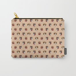 Cute and Elegant Dog Head Graphic Pattern Carry-All Pouch
