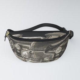 Two Vintage Chevy Automobiles Fanny Pack