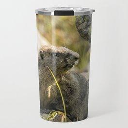 Marmot on Naches Peak Travel Mug