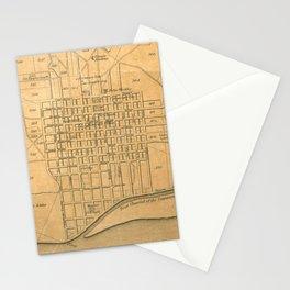 Vintage Map of Florence Alabama (1840) Stationery Cards