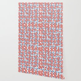 80's Style Red and Blue Dashes Wallpaper