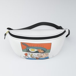 Vegan Food For Vegetarians Cinema Screen Pig And Chicken Fanny Pack