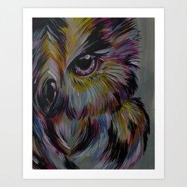 Rainbow Owl - Rainbo Series Art Print
