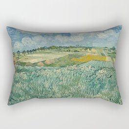 Plain at Auvers with rain clouds Rectangular Pillow