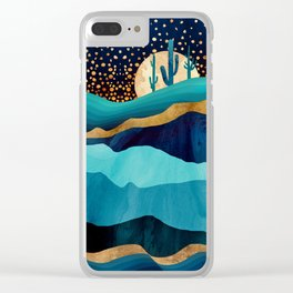 Indigo Desert Night Clear iPhone Case