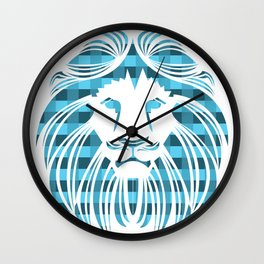 BE FEARLESS - BLUE Wall Clock