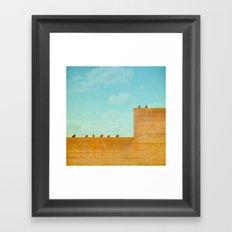 Birds on a Wall Framed Art Print