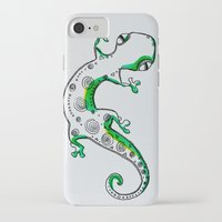 lizard iPhone & iPod Cases featuring Lizard by Olga_Kh