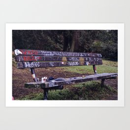 Cobain Bench Art Print