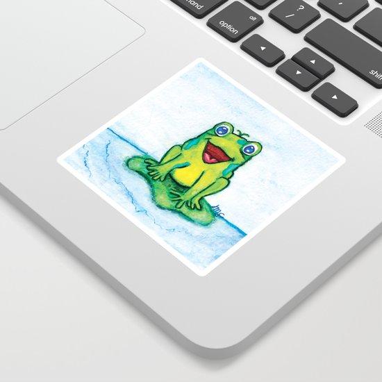 Happy Frog - Watercolor by jillthepilldesign