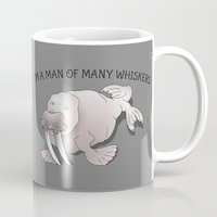 walrus Mugs featuring Walrus Whiskers by mailboxdisco
