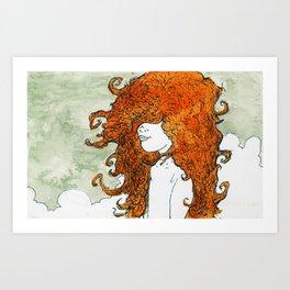 Postcard to a Lover Art Print