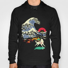 The Great Wave off Oni Island Hoody