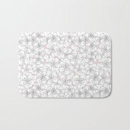Cherry Blossom Pink Blocks Bath Mat